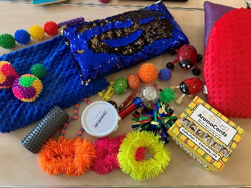 Sensory equipment funded by our charity to support older people's mental health