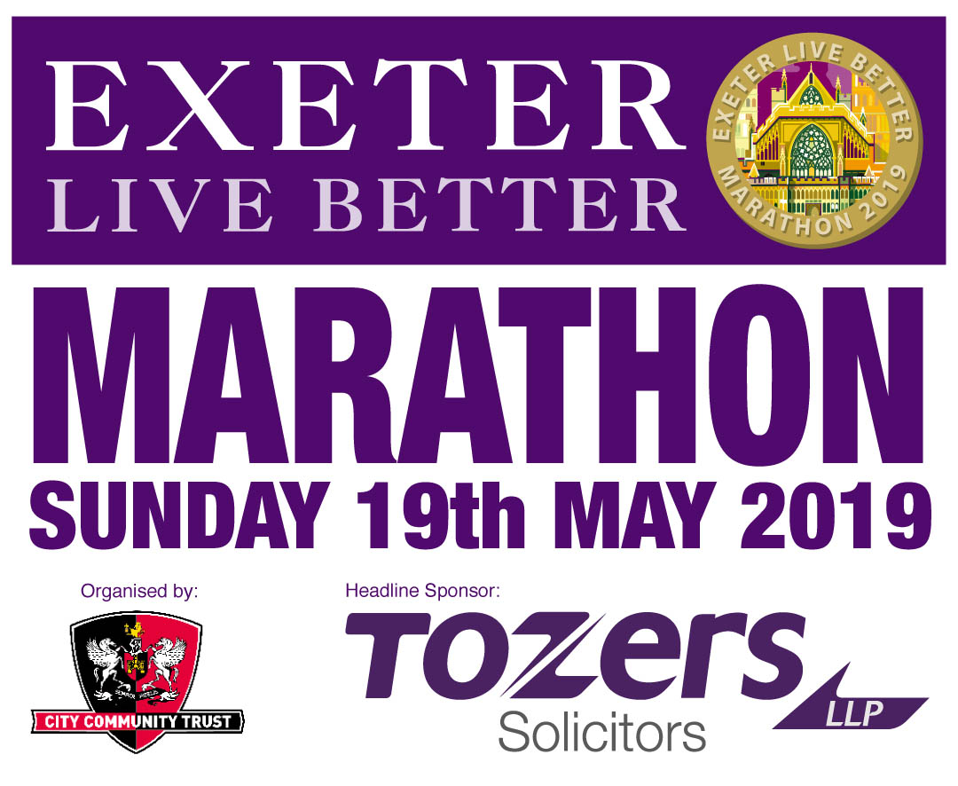 Exeter Marathon and Half Marathon places available