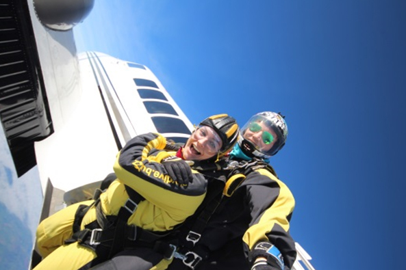 Kristina skydived to support our charity. Would you?