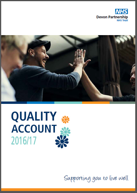 Devon Partnership Trust Quality Account front cover