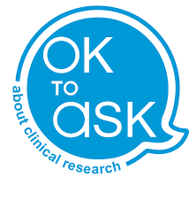 OK to ask about clinical research logo