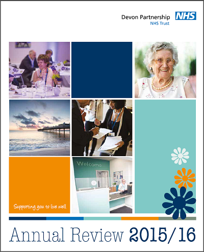 Devon Partnership Trust Annual Report front cover