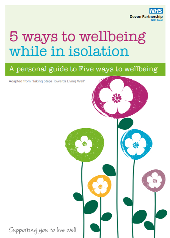 'Five Ways To Wellbeing While In Isolation' booklet published