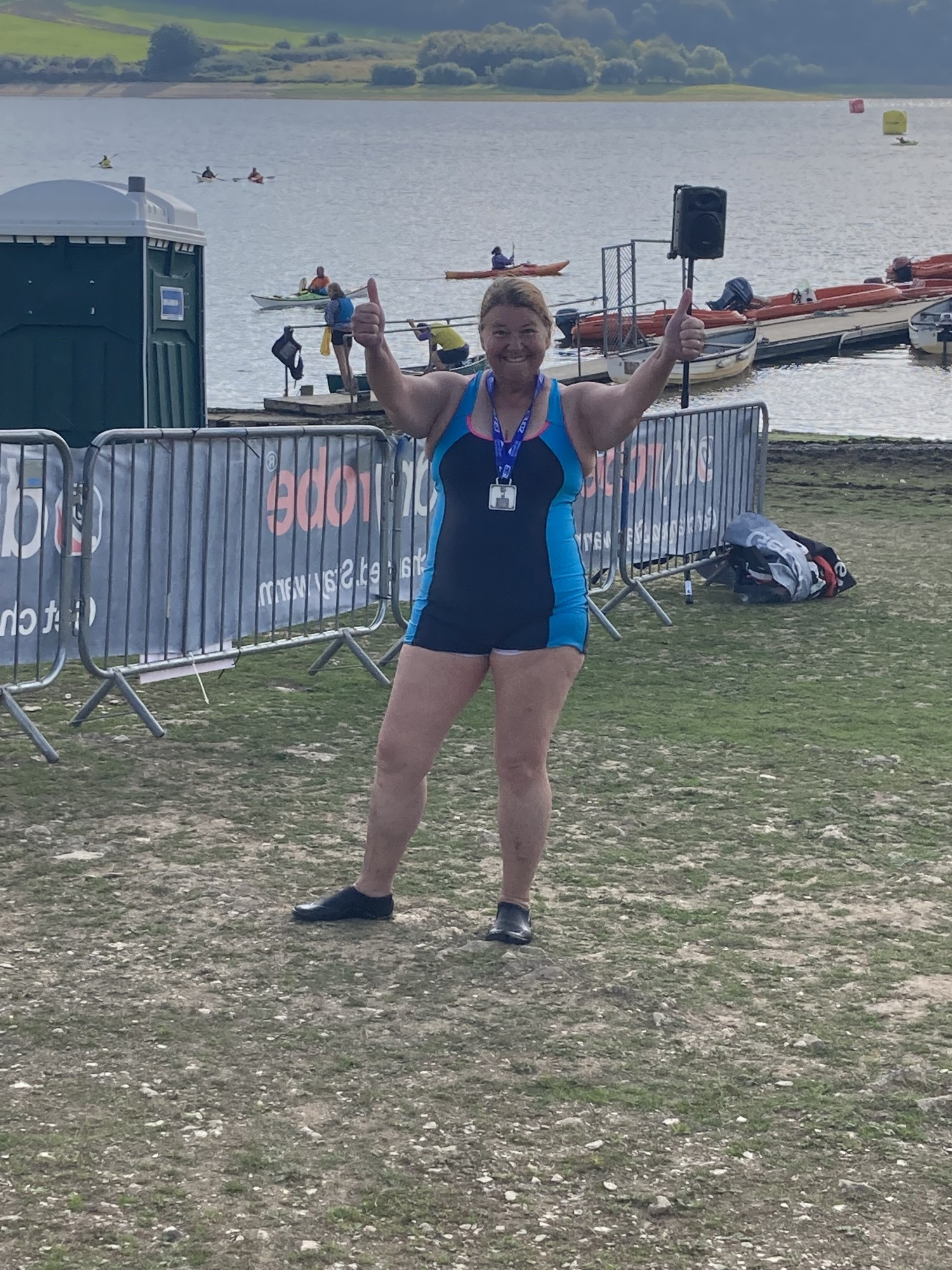 Caroline completes the Exmoor Open Water Swim for our Charity