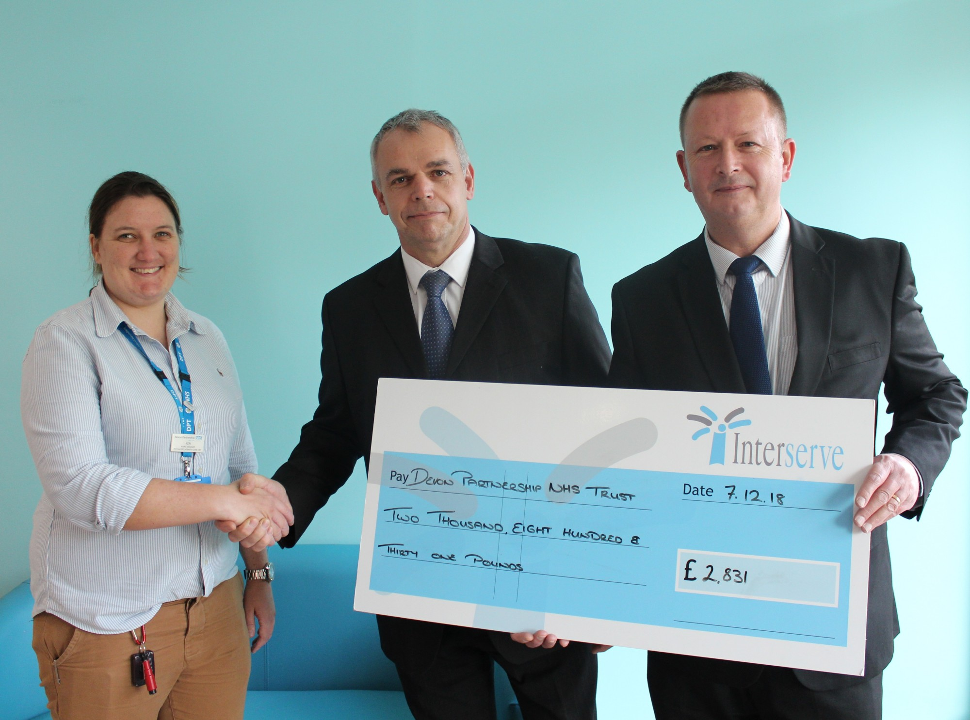Interserve raises over £2,500 for our charity
