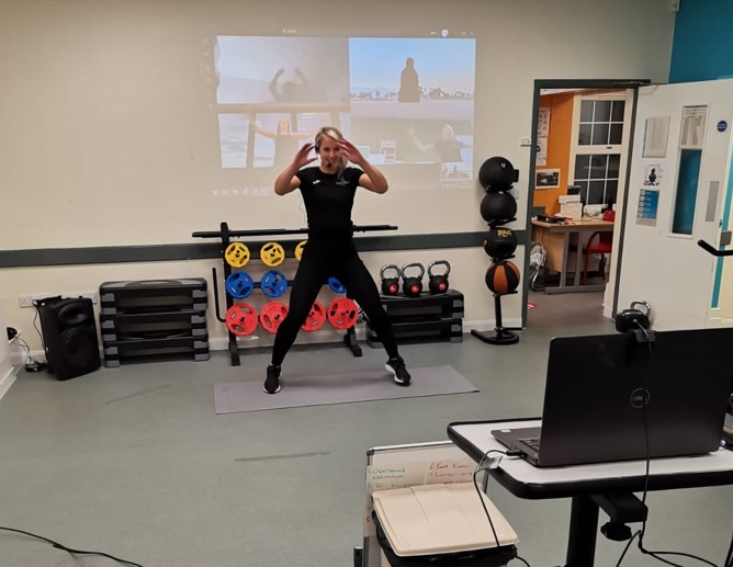 Exercise classes available to families of staff