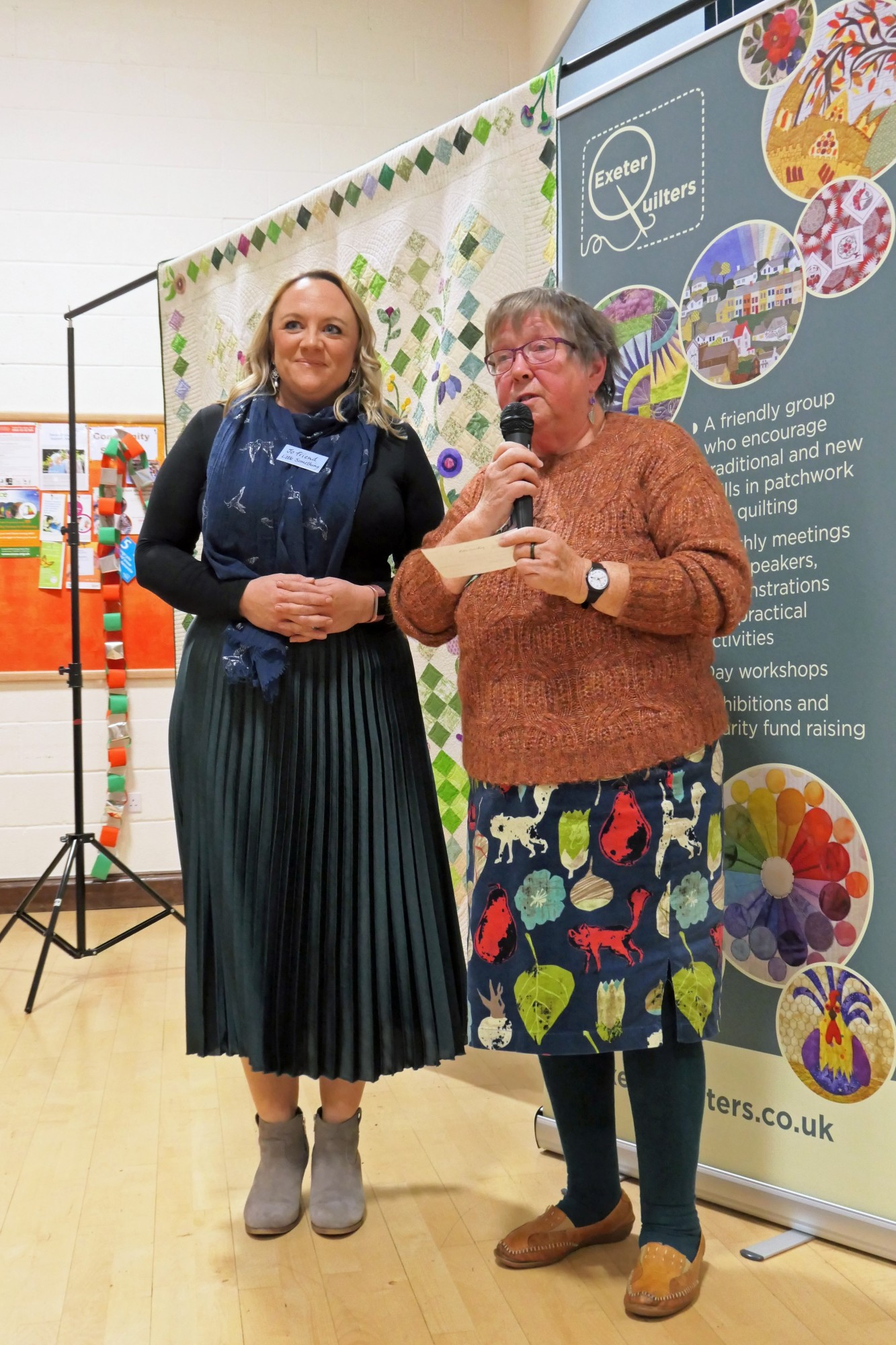 Exeter Quilters raise £1,400 to support Perinatal services