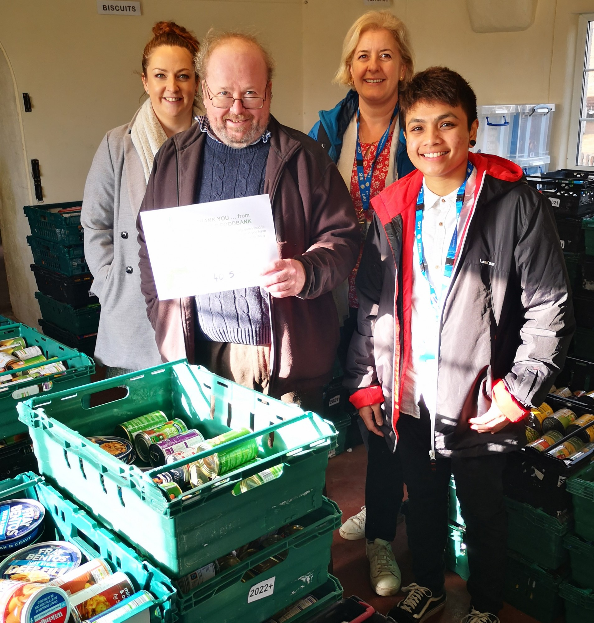 Russell Clinic make huge donation to Exeter Food Bank