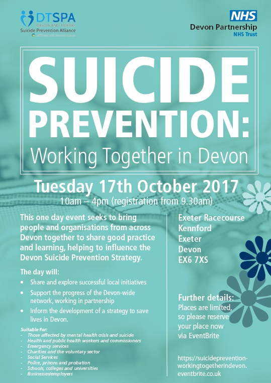 Suicide Prevention: Working together in Devon
