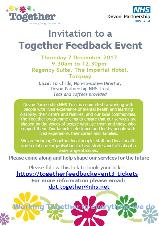 Join us for our second Together Feedback event