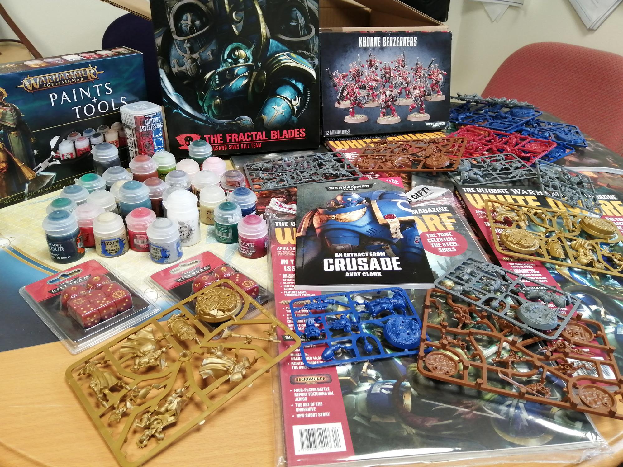 Huge donation of gaming craft goods to ward at Langdon