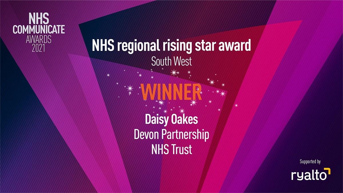 NHS Communicate Rising Star Award