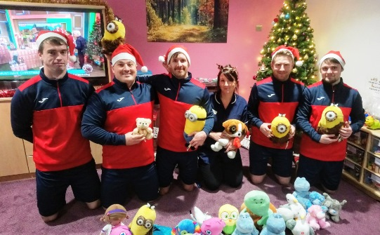 Langdon Sports Team donate soft toys to MBU