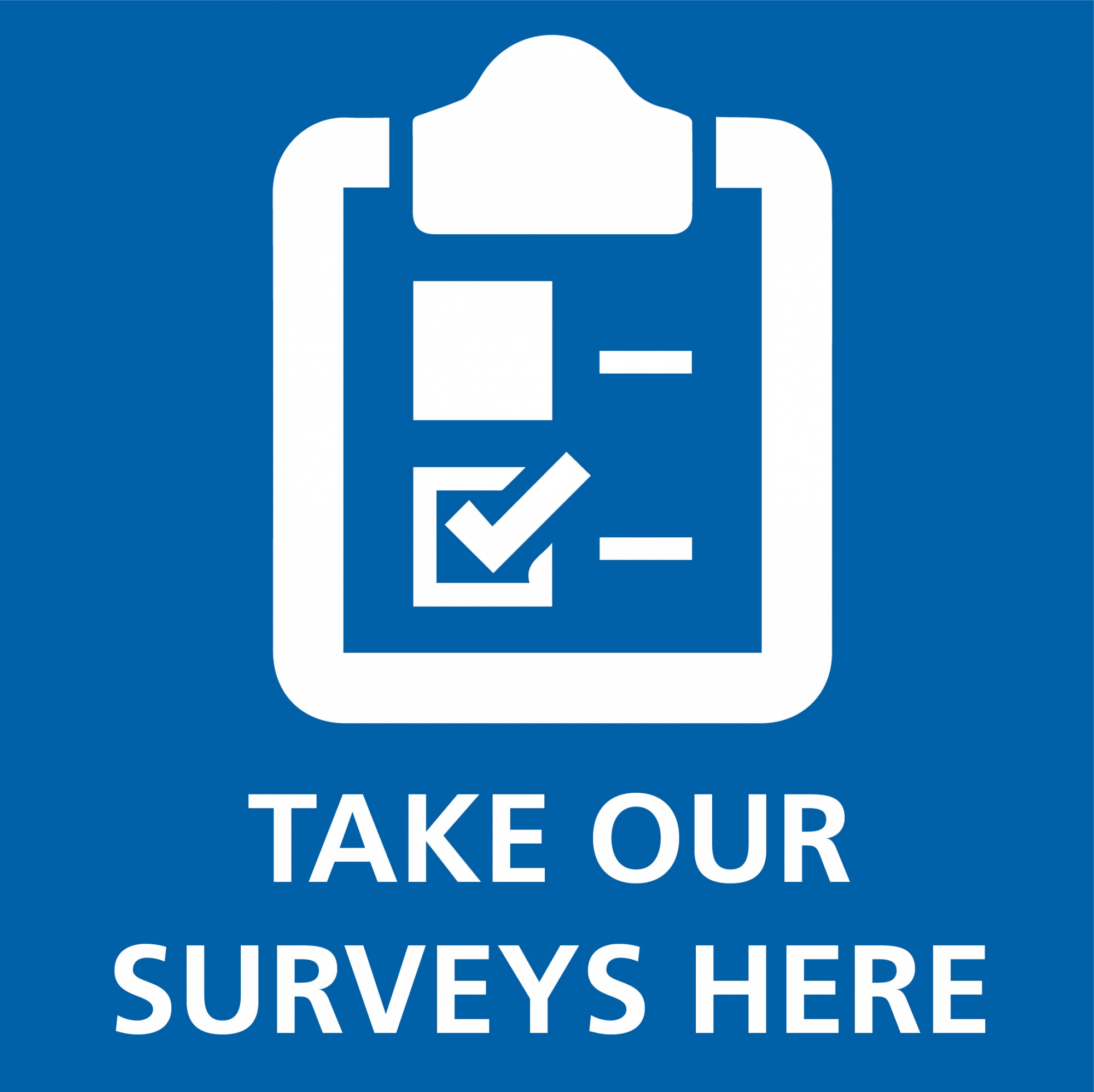 Take our surveys logo
